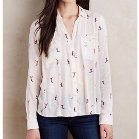 57812f203d782 Anthropologie Tops - Maeve by Anthropologie ski shirt women's size 4